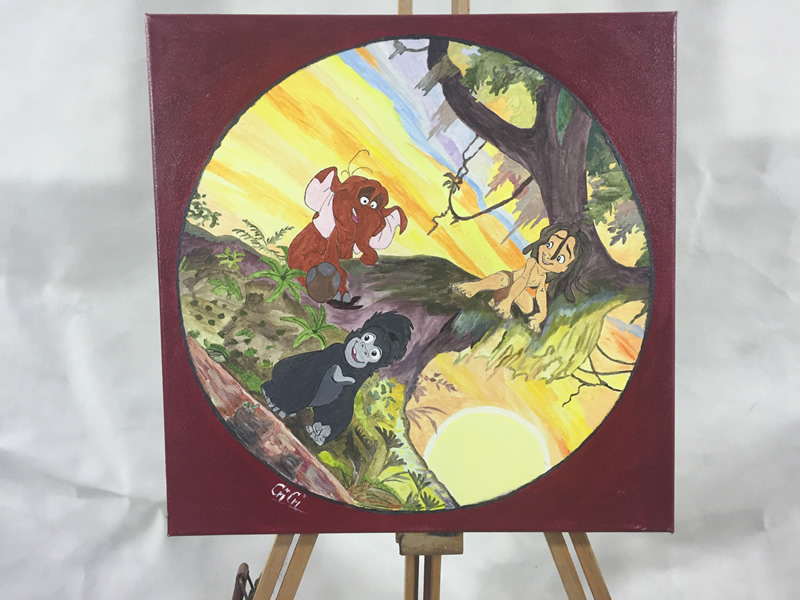 Cartoons paintings – private collection